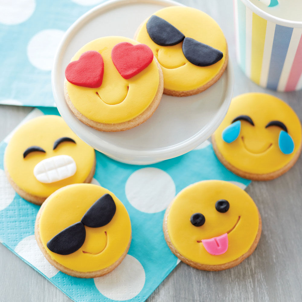 Cookie Decorating Ideas   Cookie Ideas   Wilton Fun Emoji Cookies
