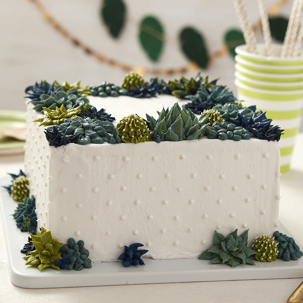 Wedding Cake Ideas   Wedding Cakes   Wilton Square Succulent Cake