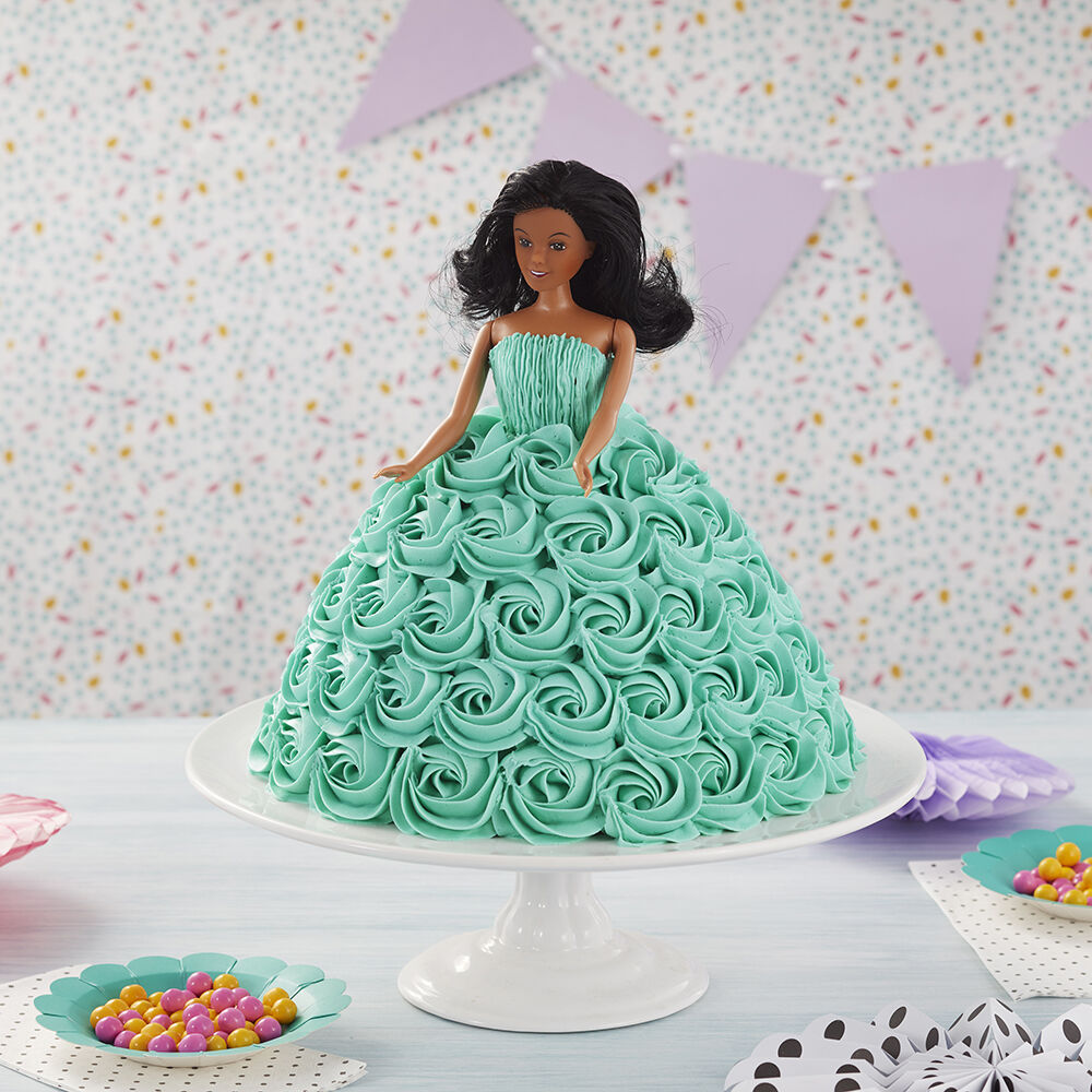 Doll Cake Tickled Teal Doll Cake Wilton