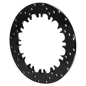 SRP Drilled Rotor - Steel - Black Electro Coat