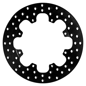 Drilled Steel Rotor - Steel - Black Electro Coat