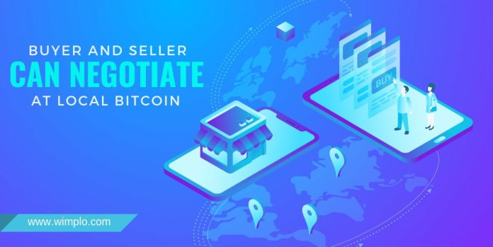 buyer and seller can negotiate at local bitcoin