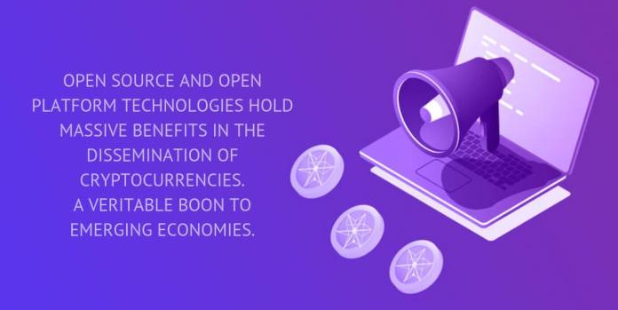 Open source and open platform technologies hold massive benefits in the dissemination of cryptocurrencies. A veritable boon to emerging economies.