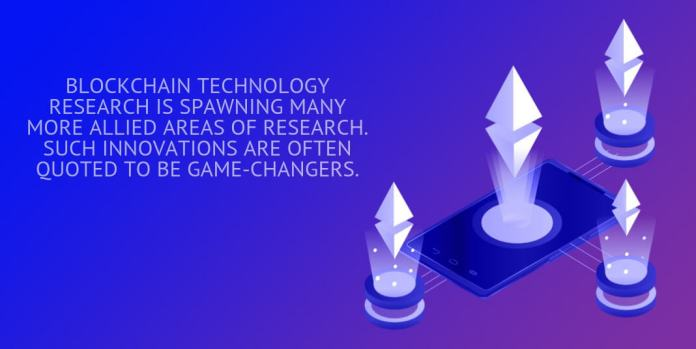 blockchain technology research is spawning many more allied areas of research.