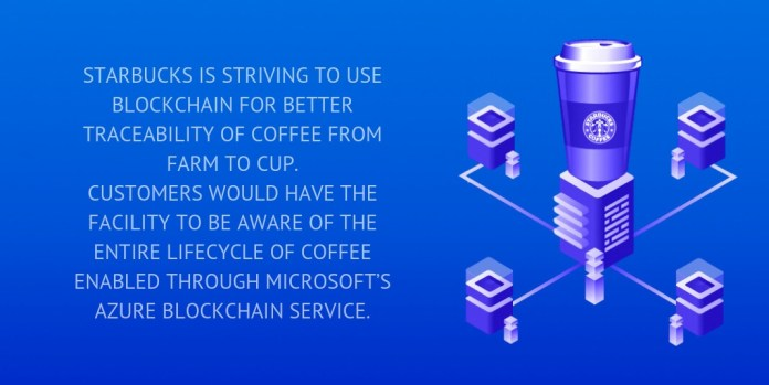starbucks is striving to use blockchain for better traceability of coffee from farm to cup