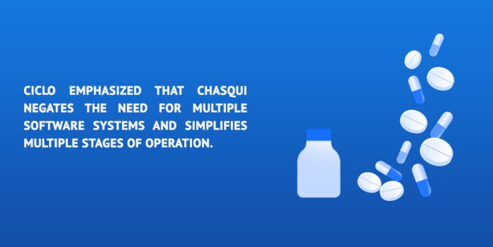Ciclo emphasized that Chasqui negates the need for multiple software systems and simplifies multiple stages of operation.