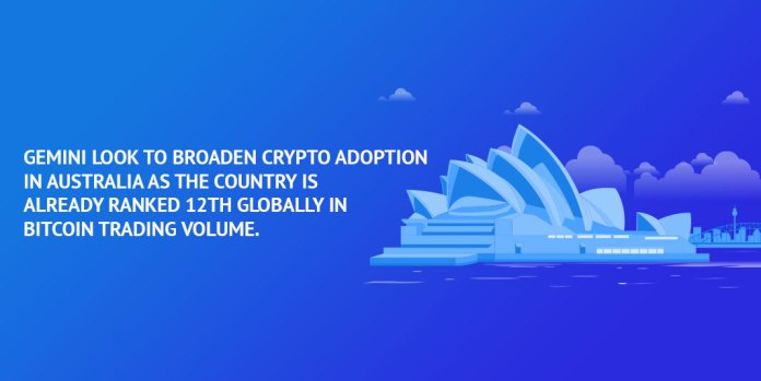 Gemini-look-to-broaden-crypto-adoption-in-Australia-as-the-country-is-already-ranked-12th-globally-in-bitcoin-trading-volume