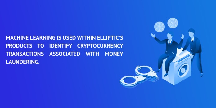 Machine learning is used within Elliptic's products to identify cryptocurrency transactions associated with money laundering.