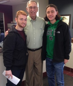 Professor Bill Suter with students from the Western Illinois Construction Management Association