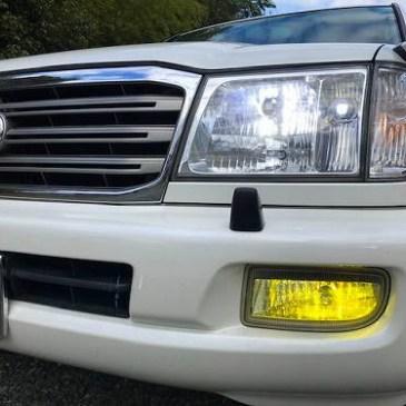 ランドクルーザー LEDヘッドライト取り付け