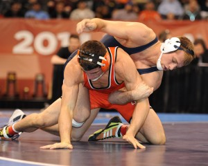 David Taylor completed his college career by blanking Oklahoma State's Tyler Caldwell 6-0 in the 165-pound championship match.