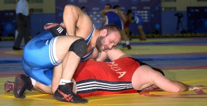 Tervel Dlagnev has appeared in the bronze medal of all five Worlds he has competed in, and won two of those (2009 and 2014). (Bob Mayeri image)