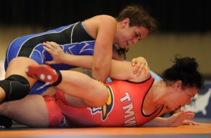 2014 World champ Adeline Gray (top) defeated Jackie Cataline for a second straight World Team Trials.