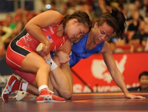 Alli Ragan (left) earned her third straight Worlds after beating 2012 Olympian Kelsey Campbell.