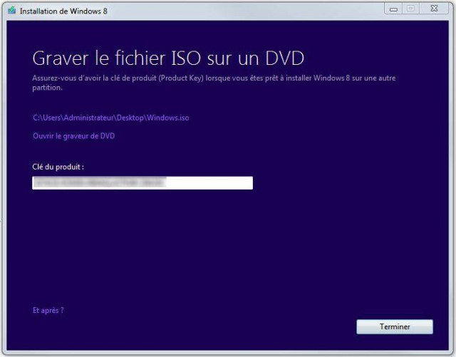 Installer Windows 8 sans clé de licence