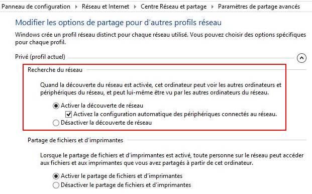 Comment désactiver ou activer la découverte du réseau dans Windows 8