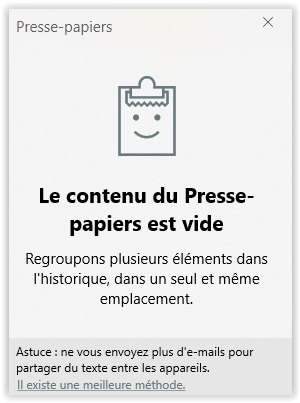 presse-papiers-vide