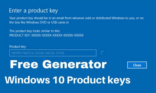 Enter Windows 10 product key here