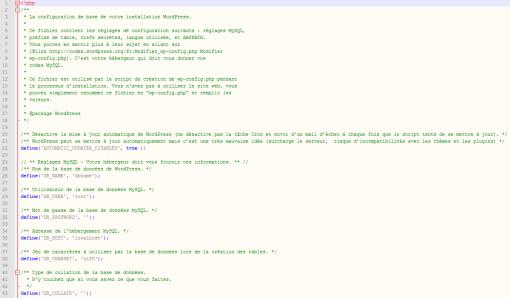 Mises à jour automatiques WordPress via wp-config