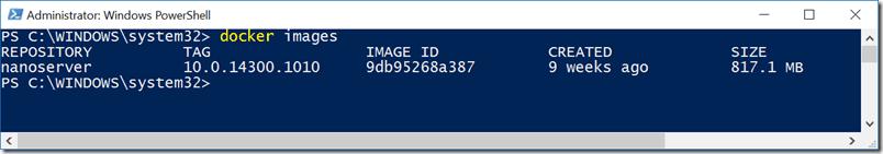 A Docker command example.