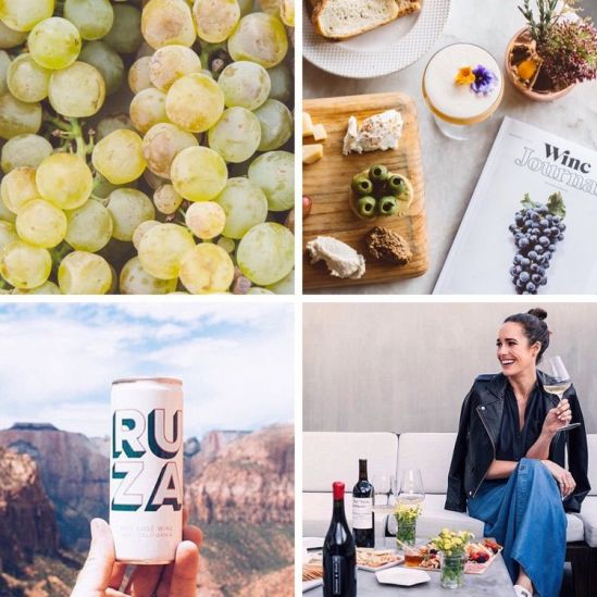 our story, woman enjoying wine, grapes, winc journal, ruza canned wine