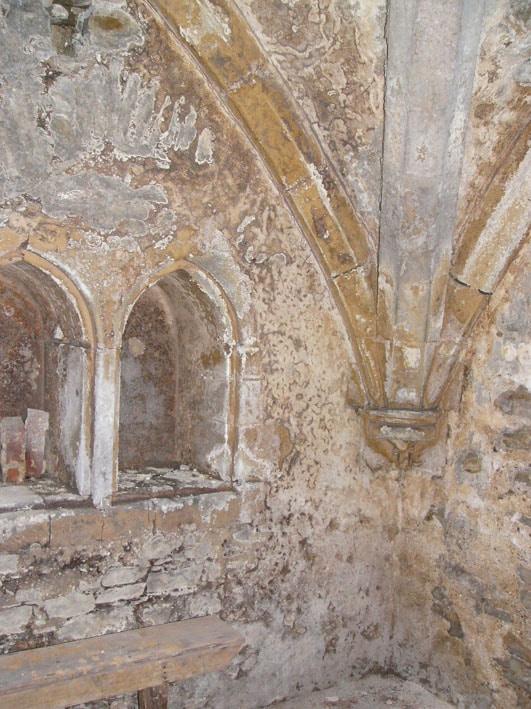 Section of endwall in Salutation Inn cellar
