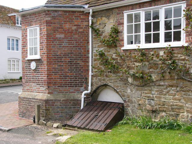 Cellar entrance beneath Stone Cottage, Barrack Square