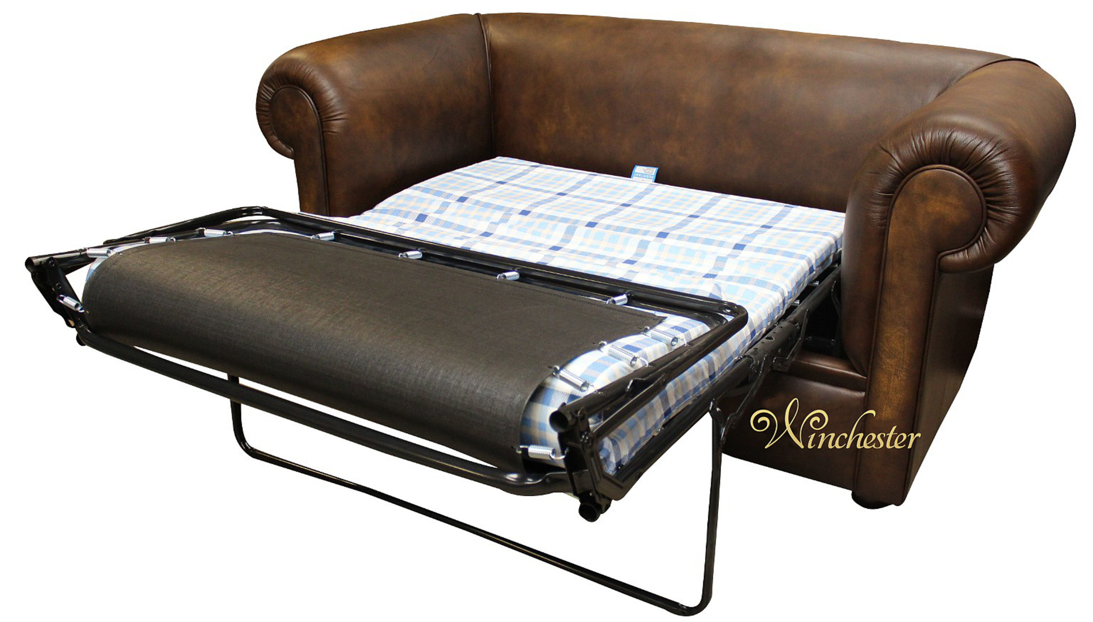 Chesterfield 1930 S 2 Seater Sofa Bed Antique Gold Leather