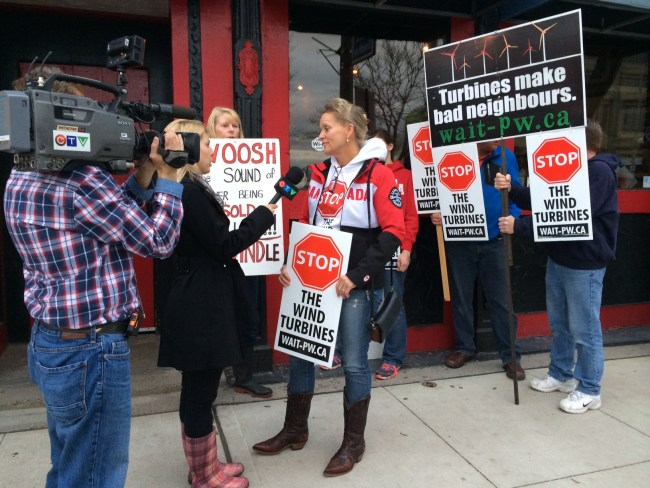 Ontario says communities should have a voice in the Energy East pipeline project; meanwhile, 91 municipalities are now Not A Willing Host to wind power projects--still can't say 'no'