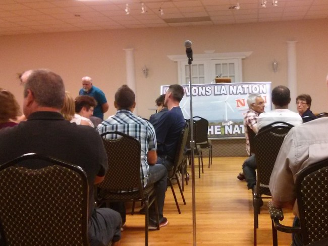500+ people gathered in Nation Twp to fight two wind power projects...and farm owner greed [Photo: Wind Concerns Ontario]