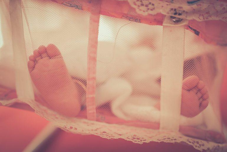 Schlafendes Baby - wenn der Schlafrückgang zuschlägt ist daran nicht zu denken.