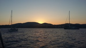 Sunset in Rade d'Agay