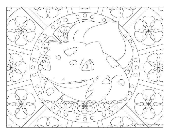 pokemon coloring pages bulbasaur 001 Bulbasaur Pokemon Coloring Page · Windingpathsart.com pokemon coloring pages bulbasaur