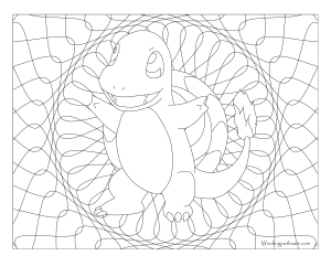004 Charmander Pokemon Coloring Page