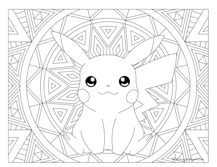 025 Pikachu Pokemon Coloring Page Windingpathsart Com