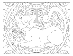 053 persian pokemon coloring page