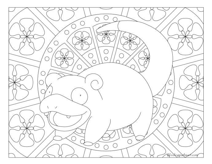 079 slowpoke pokemon coloring page