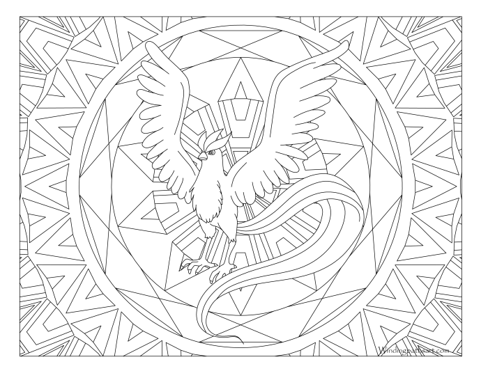 144 Articuno Pokemon Coloring Page Windingpathsart