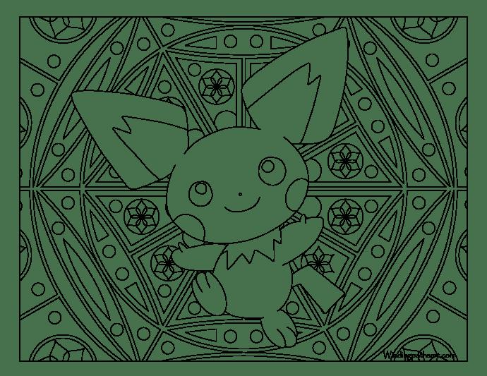 172 pichu pokemon coloring page