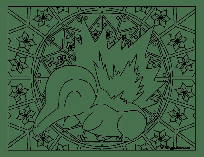 155 Cyndaquil Pokemon Coloring Page Windingpathsart Com