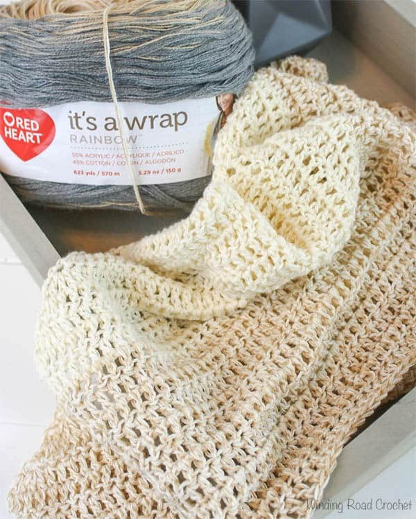 My First Triangle Shawl Free Crochet Pattern Winding Road Crochet