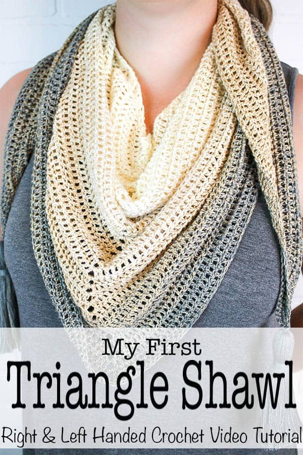 My First Triangle Shawl Left Right Hand Video Tutorial Winding