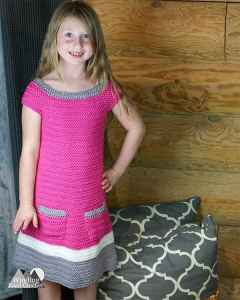 Emma Crochet Sweater Dress | Free Crochet Pattern | A beautiful texture and simple construction makes this a great fall crochet project. Enjoy the free crochet pattern. This link contains the pattern for Girl's size Small and Medium, Sizes XS, Large and XL as well as Baby and toddler sizes coming soon. #crochet #crochetdress