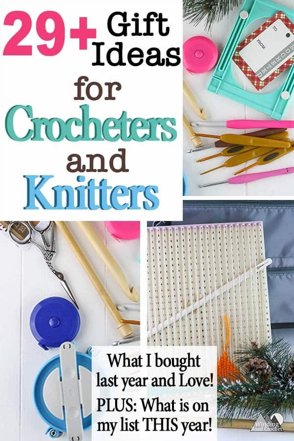 Give the perfect gift to the crocheter or knitter on your list or add any of these gift ideas to your own christmas list. We are going way beyond the typical ball or yarn and hook and looking at a variety of gifts any crocheter or knitter would love. #crochet #giftguide