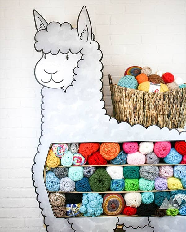 Organize your yarn storage for your New Year's Resolutions