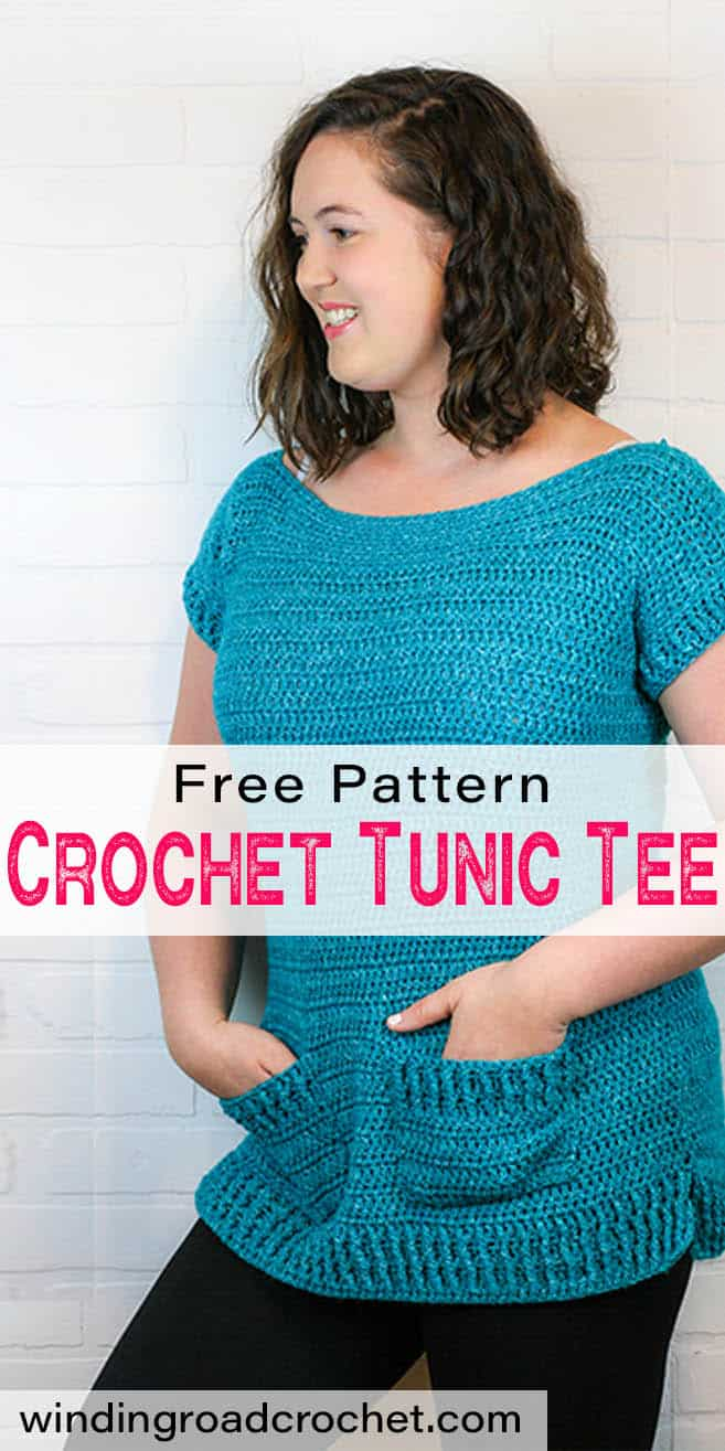 Want a beautiful long crochet tunic for the summer? Here is the easy and quick tunic tee, a perfect crochet summer top. This free crochet pattern includes sewing diagrams and easy instructions. #crochettop #crochettunic #crochetpattern #crochetforwomen