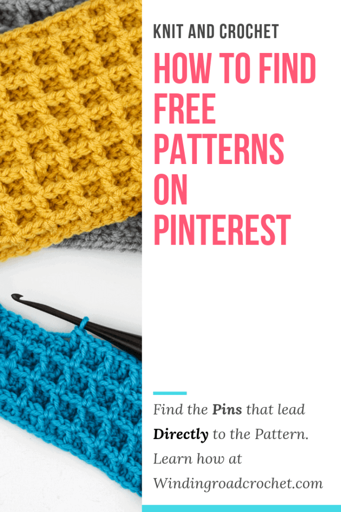 Learn how to find free patterns on pinterest. I will show you how to recognize pins that lead directly to the free crochet pattern. #crochet #knit #pinteresttips #patterns #crochettips
