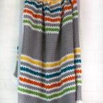 Modern Stripes Crochet Blanket Free Pattern Winding Road Crochet