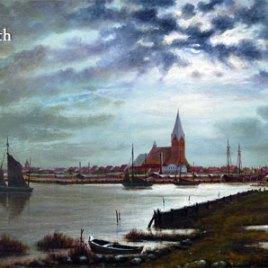 Postkarte Ansicht der Stadt Barth
