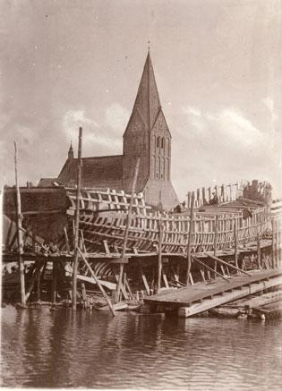 Werft Holzerland Barth um 1900